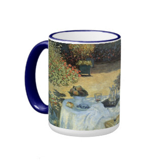 Luncheon by Claude Monet, Vintage Impressionism Ringer Coffee Mug