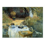 Luncheon by Claude Monet, Vintage Impressionism Postcard