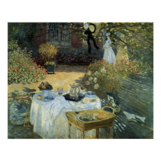 Luncheon by Claude Monet, Vintage Impressionism Poster