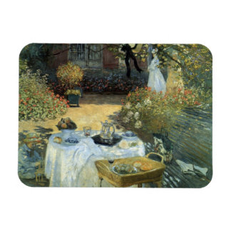 Luncheon by Claude Monet, Vintage Impressionism Rectangular Magnets