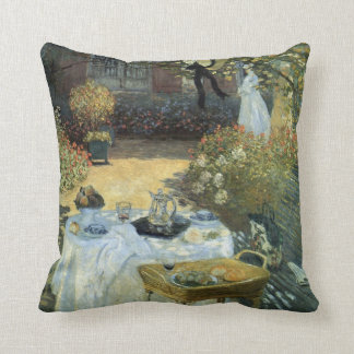 Luncheon by Claude Monet, Vintage Impressionism Throw Pillow