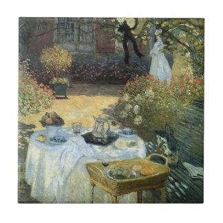 Luncheon by Claude Monet, Vintage Impressionism Tile