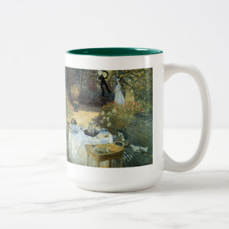 Luncheon by Claude Monet, Vintage Impressionism Two-Tone Coffee Mug