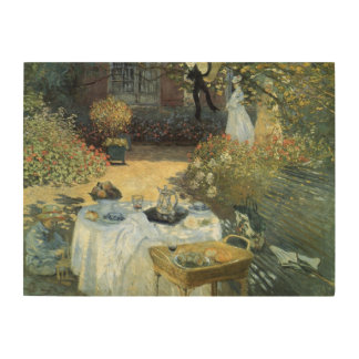 Luncheon by Claude Monet, Vintage Impressionism Wood Wall Art