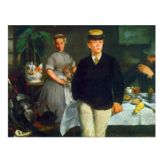 Luncheon by Edouard Manet Postcard