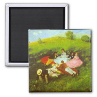 Luncheon by Pal Szinyei Merse Fridge Magnets