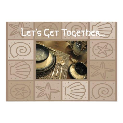 luncheon get together invitation 13 cm x 18 cm invitation
