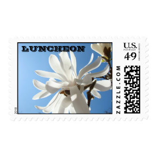 LUNCHEON invitation stamps Magnolia Flowers
