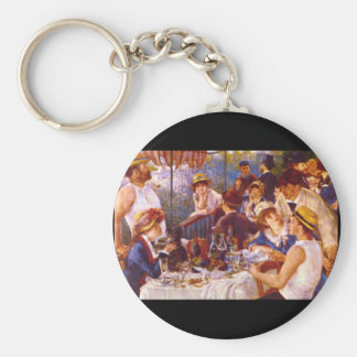 Luncheon of the Boating_Groups and Figures Basic Round Button Keychain