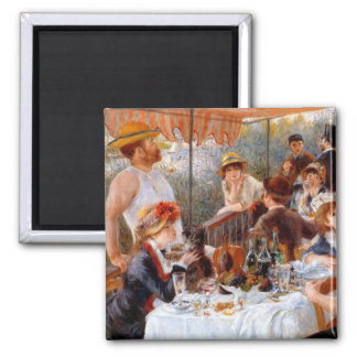 Luncheon of the Boating Party 2 Inch Square Magnet