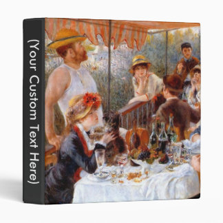 Luncheon of the Boating Party 3 Ring Binder