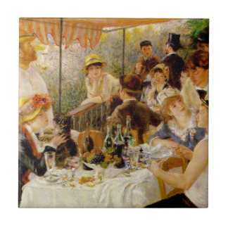 Luncheon of the Boating Party- Auguste Renoir Tile