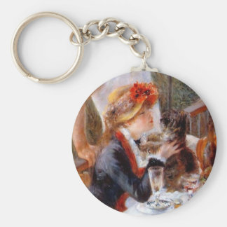 Luncheon of the Boating Party Basic Round Button Keychain