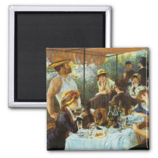 Luncheon of the Boating Party by Pierre Renoir 2 Inch Square Magnet