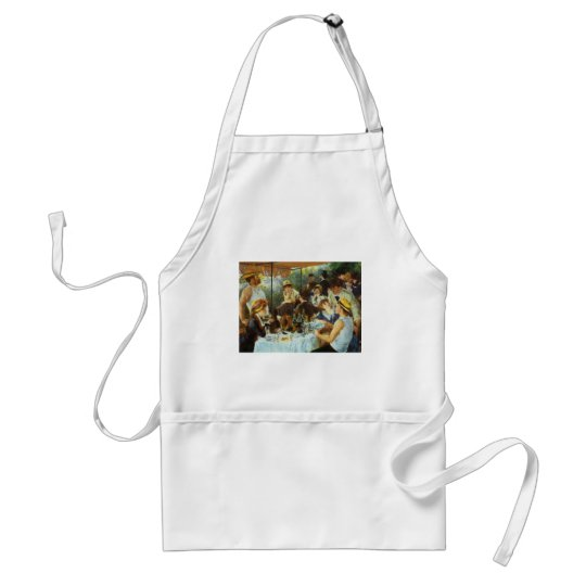Luncheon of the Boating Party by Pierre Renoir Adult Apron
