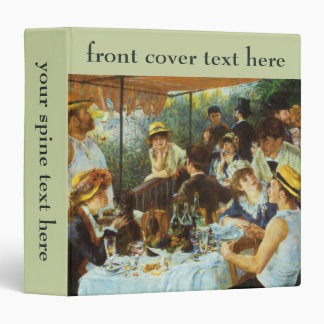 Luncheon of the Boating Party by Pierre Renoir 3 Ring Binder
