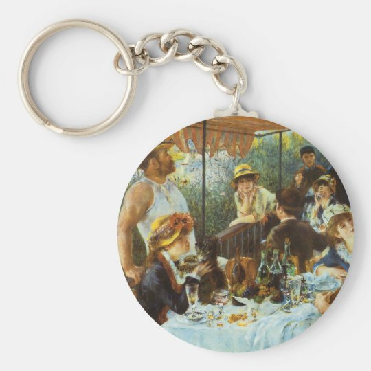 Luncheon of the Boating Party by Pierre Renoir Keychain