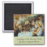 Luncheon of the Boating Party by Pierre Renoir Refrigerator Magnets