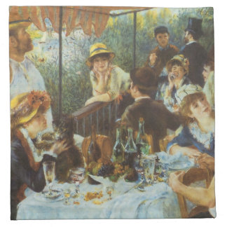 Luncheon of the Boating Party by Pierre Renoir Printed Napkins