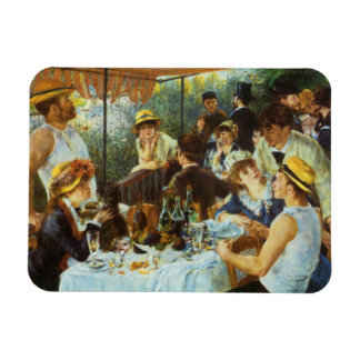 Luncheon of the Boating Party by Pierre Renoir Vinyl Magnet