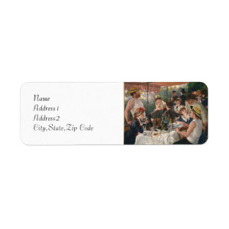 Luncheon of the Boating Party by Renoir Label