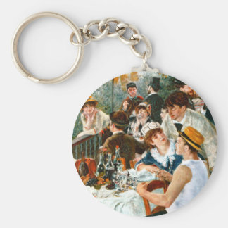 Luncheon of the Boating Party, Renoir Basic Round Button Keychain