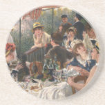 """Luncheon of the Boating Party Vintage - Renoir Drink Coaster<br><div class=""""desc"""">Luncheon of the Boating Party Vintage - Renoir. renoir, art, luncheon of the boating party, french art, friends, socializing, vintage, dining</div>"""