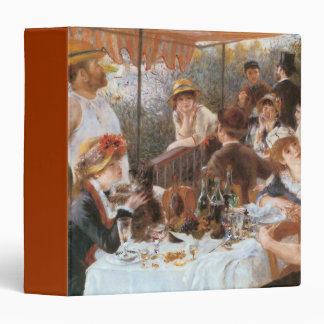 Luncheon of the Boating Party Vinyl Binder