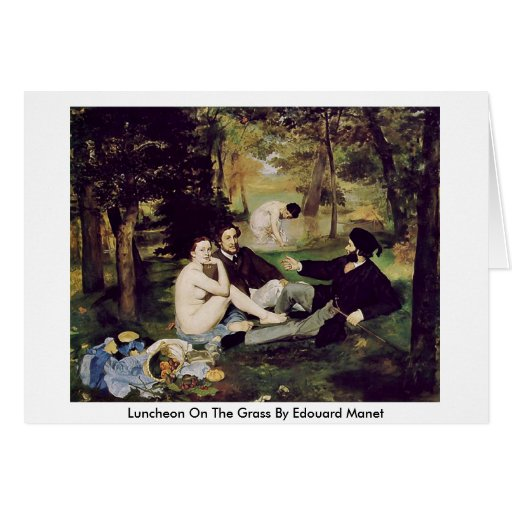 Luncheon On The Grass By Edouard Manet Greeting Card