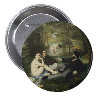 Luncheon on the Grass by Edouard Manet Pinback Button