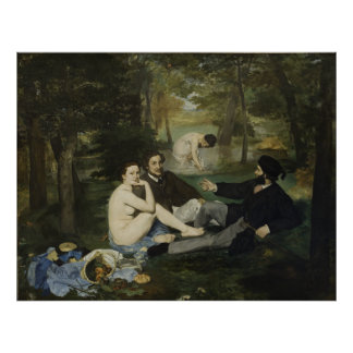 Luncheon on the Grass by Edouard Manet Posters