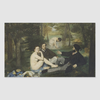 Luncheon on the Grass by Edouard Manet Rectangular Sticker