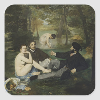 Luncheon on the Grass by Edouard Manet Square Sticker