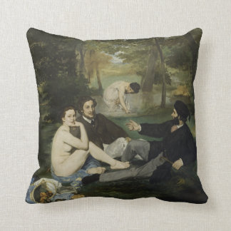 Luncheon on the Grass by Edouard Manet Throw Pillow