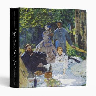 Luncheon on the Grass, Center Panel Claude Monet Vinyl Binders