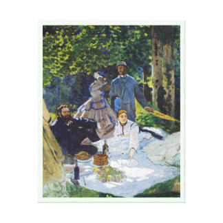 Luncheon on the Grass, Center Panel Claude Monet Canvas Prints