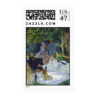 Luncheon on the Grass, Center Panel Claude Monet Postage
