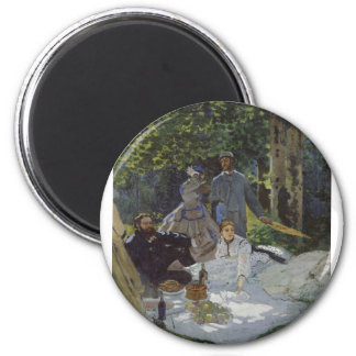 Luncheon on the Grass, Central panel (1865) 2 Inch Round Magnet