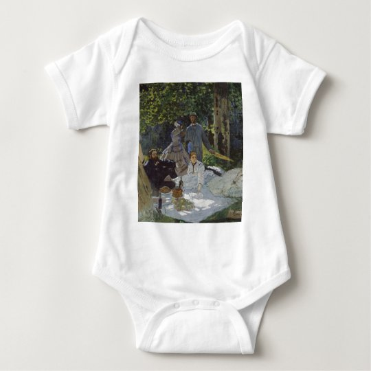 Luncheon on the Grass, Central panel (1865) Baby Bodysuit