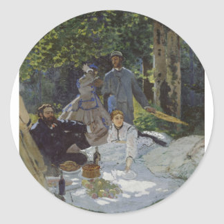 Luncheon on the Grass, Central panel (1865) Sticker