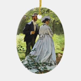 Luncheon on the Grass Claude Monet Christmas Tree Ornament