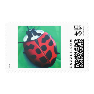 Lunching Lady . . . Bug Postage Stamp