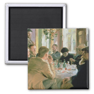 Lunchtime, 1883 2 inch square magnet