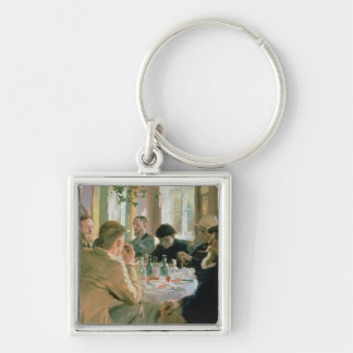 Lunchtime, 1883 Silver-Colored square keychain