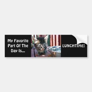 Lunchtime Bumper Sticker Car Bumper Sticker