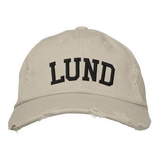 Lund bordó el gorra gorra de béisbol bordada