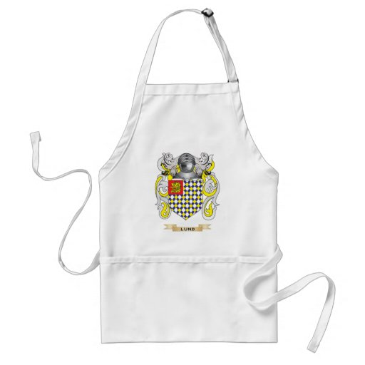 Lund Coat of Arms (Family Crest) Adult Apron