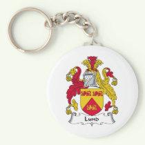 Lund Family Crest Keychain
