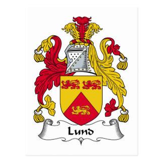 Lund Family Crest Postcard