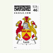 Lund Family Crest Stamps